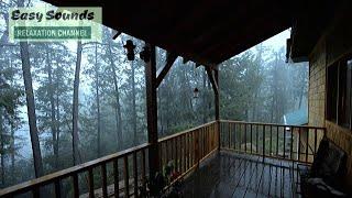 ⛈⛈Heavy Rain🌨🌨 and ⚡Thunder⚡ in the Farmhouse-Rain Storm Deep in the FOREST-Sleep-Study-Relax