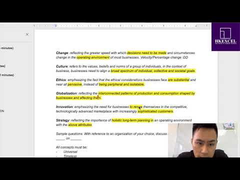How To Write A LEVEL 7 CUEGIS Essay In IB Business L HKExcel