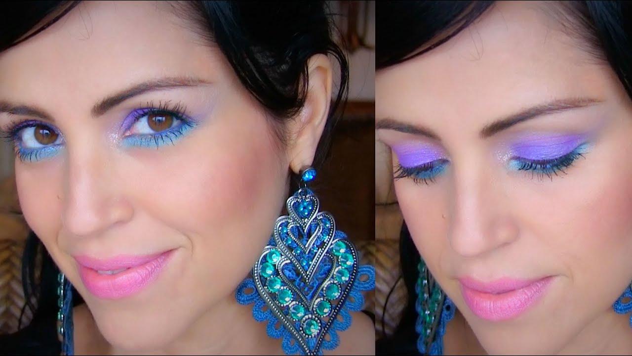 Único Vestido Azul Del Baile De Maquillaje Componente - Colección ...