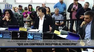 "Video: Nogar: ""Que los controles incluyan al Municipio"""