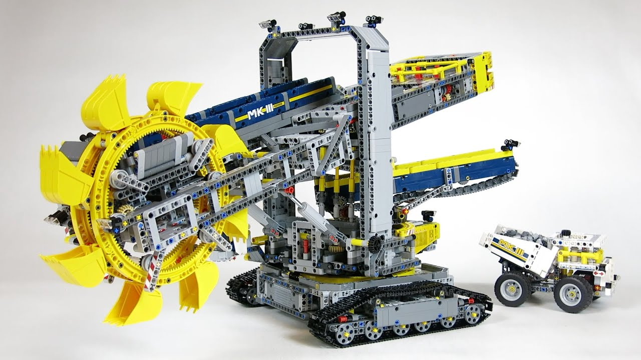 lego technic 42055 bucket wheel excavator demo youtube. Black Bedroom Furniture Sets. Home Design Ideas