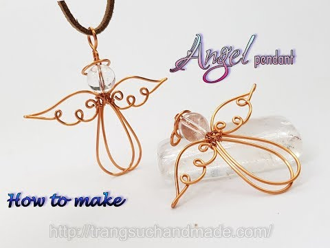 Angel pendant with spherical stone - Jewelry ideas for Christmas 435
