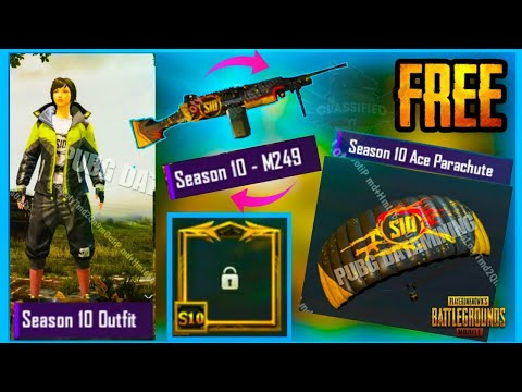 Pubg mobile season 10 emotes, skins, stuffs, missions, events...
