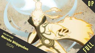 """「English Dub」Naruto Shippuden OP 6 """"Sign"""" FULL VER.【Sam Luff】- Studio Yuraki"""