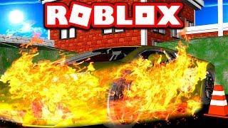 DESTROYING MY $1,000,000 LAMBORGHINI SUPERCAR IN ROBLOX! (Roblox Vehicle Simulator)
