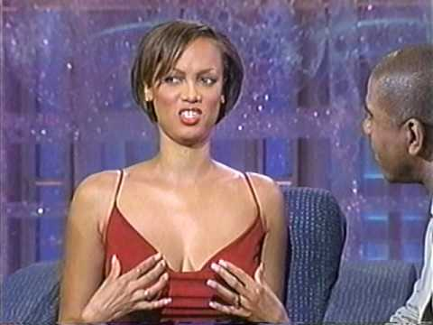 TYRA BANKS -  DEMONSTRATES HOW TO MAKE AN ENTRANCE & INTERVIEW - 1998 - VOB