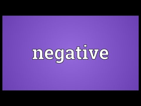 Negative Meaning