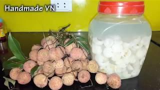 Cách ngâm RƯỢU VẢI TƯƠI ngon ngọt tốt cho sức khỏe nhu the nao
