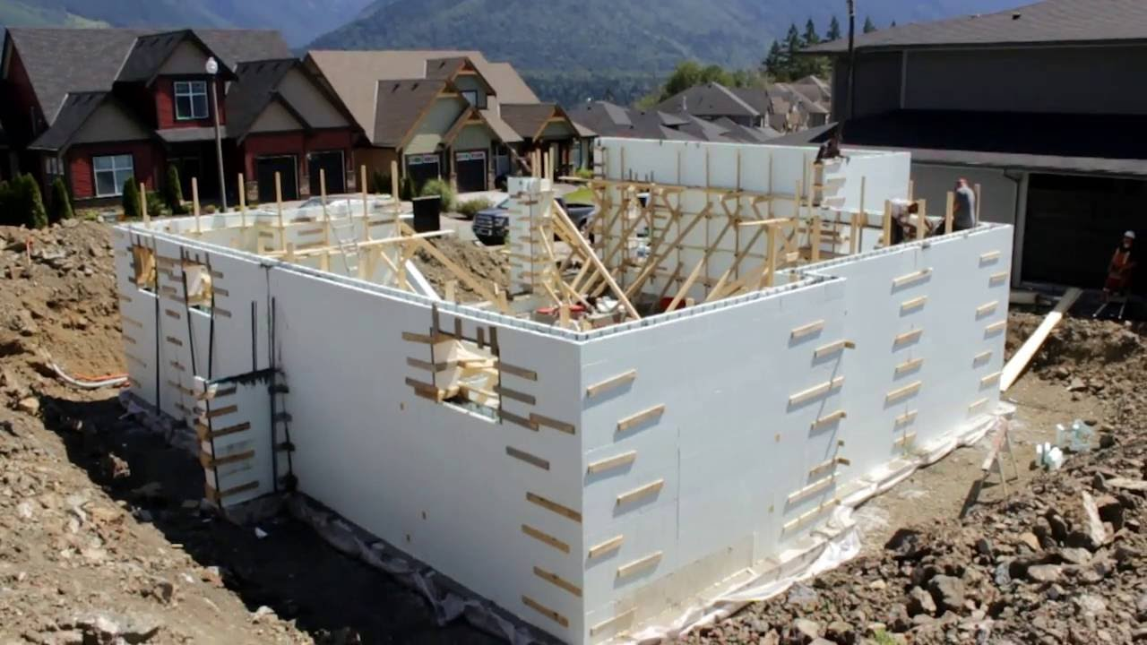 Insulated concrete form icf time lapse zont icf for Icf concrete floors