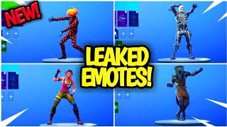 NEW! LEAKED EMOTES! ALL (4) FORTNITE EMOTES! *ELECTRO SWING, BEHOLD, SPRINKLER*