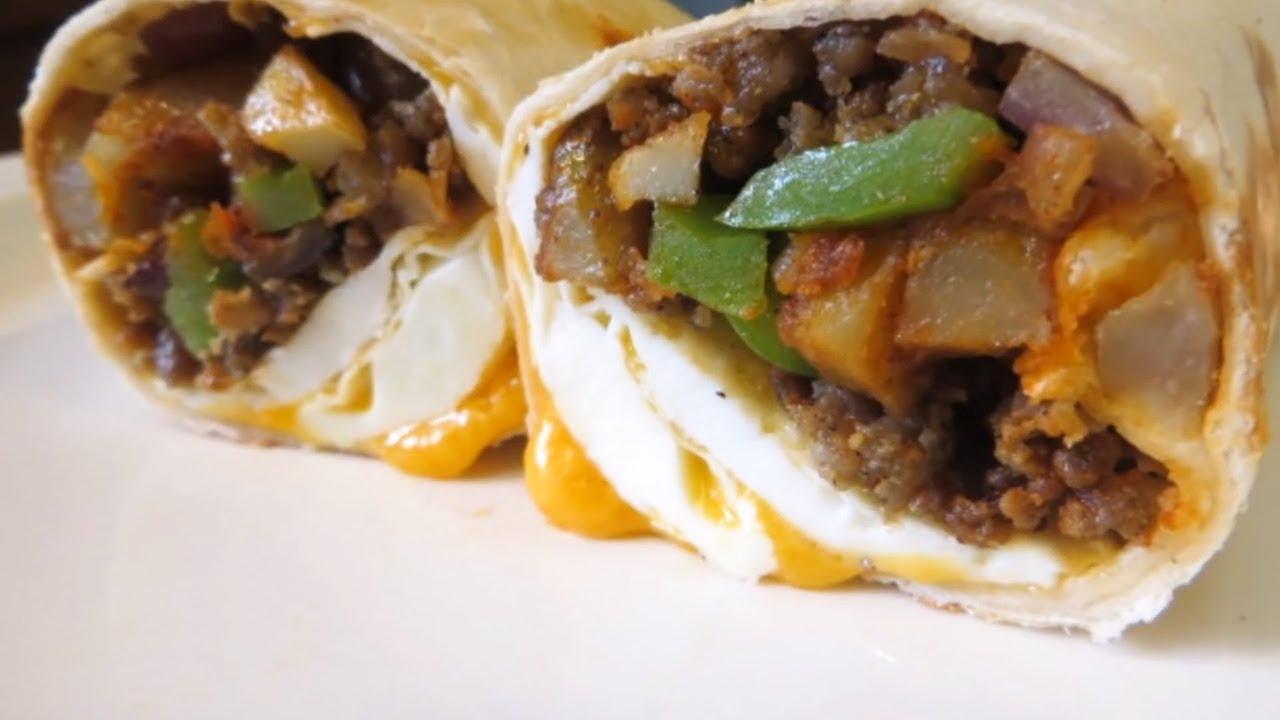 the ultimate breakfast burrito youtube