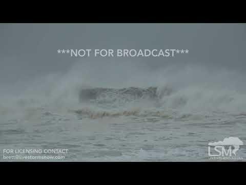 10-10-2018 Sunnyside, Fl Hurricane Michael big waves and surge flooding into  beach condos