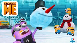 Despicable Me 2: Minion Rush Ice Age - Purple Minion Multiplayer Racing in North Pole
