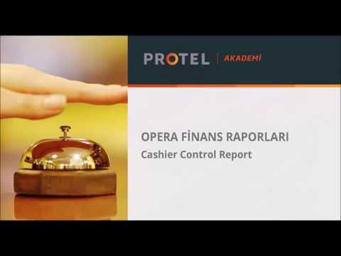 OPERA | 3.Finans Raporları - 03.Cashier Control Report