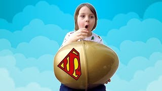 Huge Surprise Egg Hunt in Hotel | Tim Opens Giant Superman Surprise Egg with Daddy