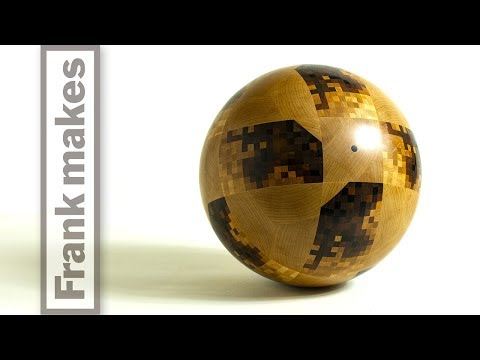 Wood Turning the World Cup Ball - Telstar 18
