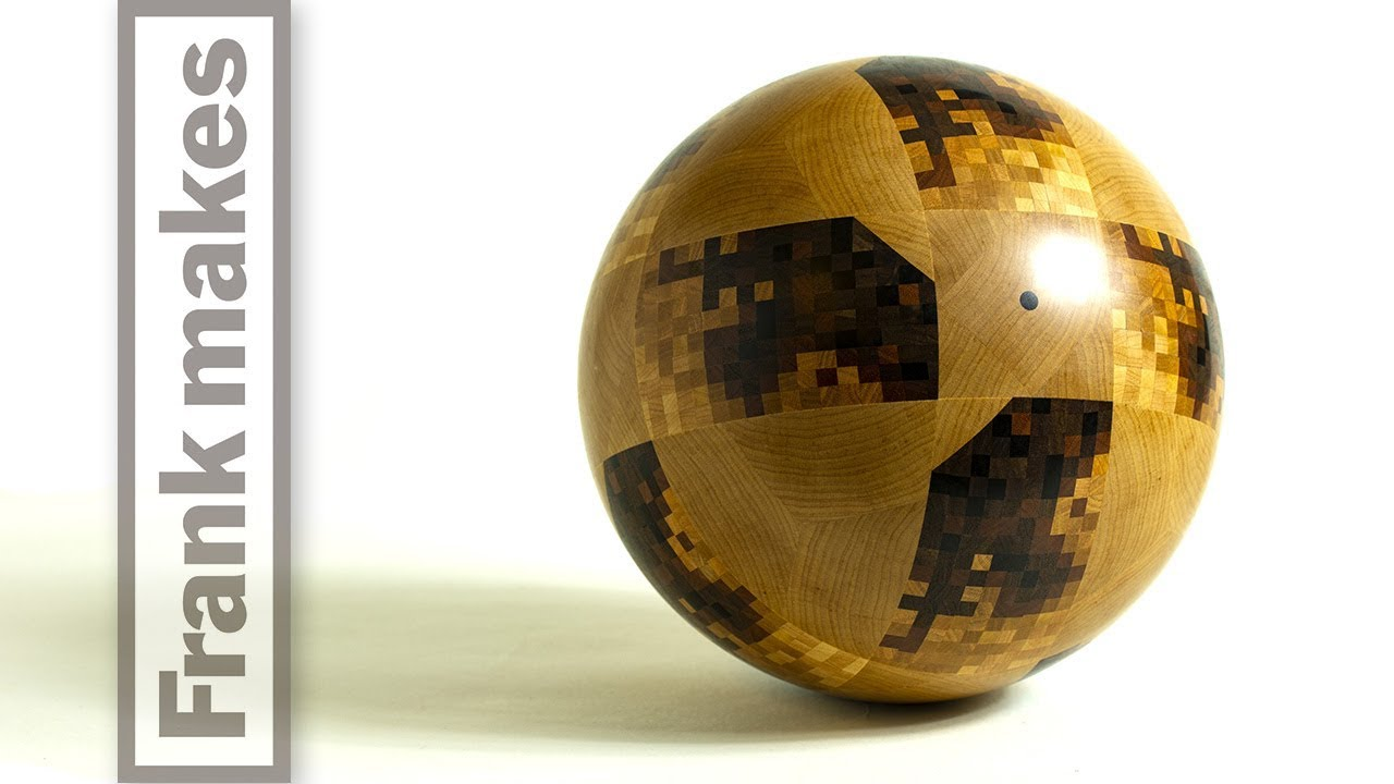 Wood Turning the World Cup Ball - Telstar 18 image