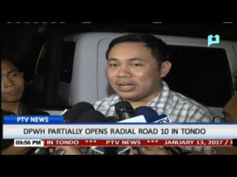 DPWH partially opens radial Road 10 in Tondo