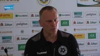 Pressekonferenz nach dem Landespokalfinale