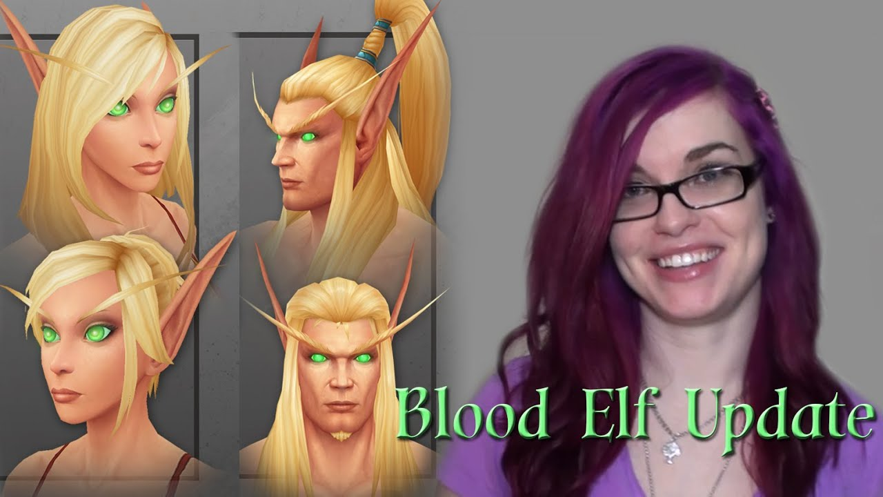 new blood elf character models - youtube