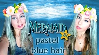 Mermaid Blue Festival Hair: Live Ultra Brights│Kate Wednesday