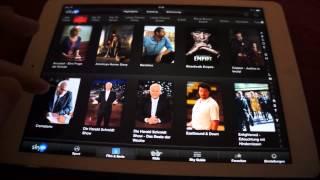 Review: Sky Go (zu sehen ist hier die App auf dem iPad Air) [HD & Deutsch]
