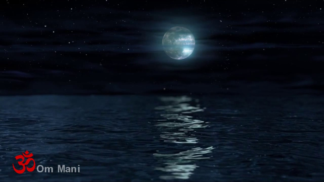 Beethoven Moonlight Sonata with Night Ocean Waves Sounds (2 hours)