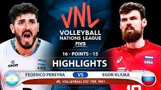 Argentina vs Russia | VNL 2021 | Highlights | Federico Pereyra vs Egor Kliuka