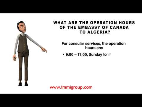 What Are The Operation Hours Of The Embassy Of Canada To Algeria?