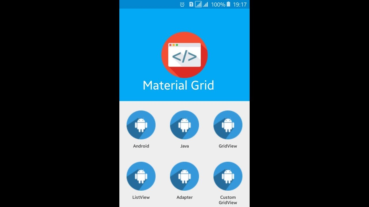 Display images in Custom Grid View using Material Design in Android Studio