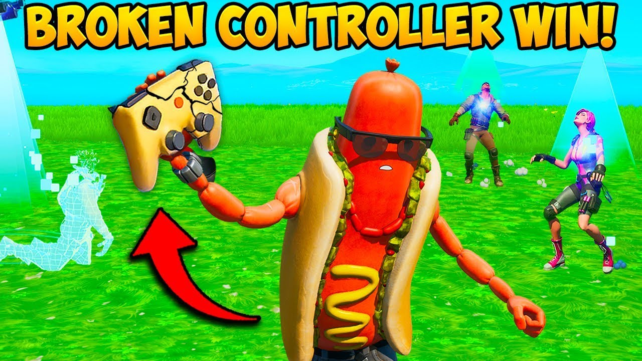 *INSANE* WIN WITH NO CONTROLLER!! - Fortnite Funny Fails and WTF Moments! #760