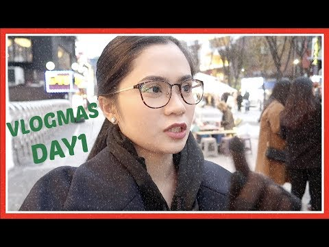 VLOGMAS Day1: Let It Snow, Korea! (Dec 1, 2017.) | Anna Cay ♥
