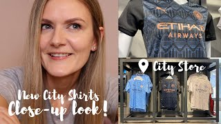 MAN CITY 20/21 KIT! | CLOSE-UP LOOK AT CITY STORE | Which player do I get? Lavelle? Mewis?