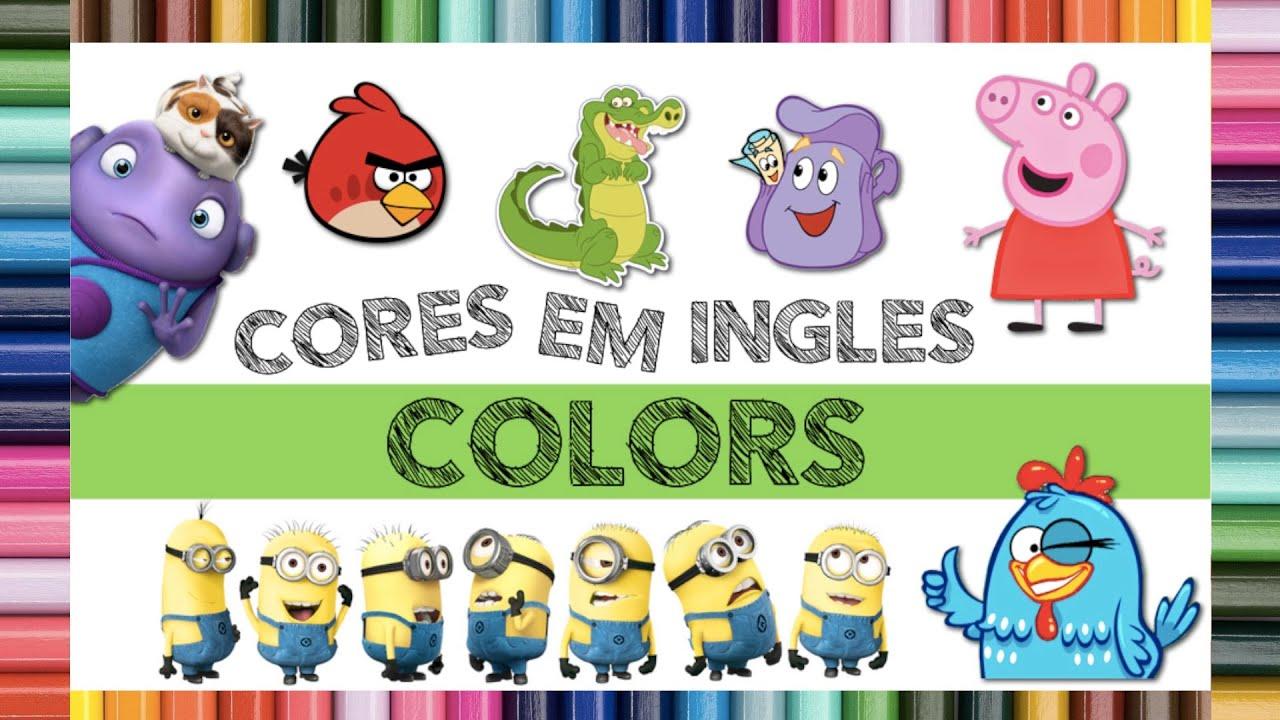 Armario Blanco Segunda Mano ~ INGLES para Criancas CORES em Ingles Learning COLORS YouTube