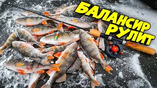 НАШЛИ ОКУНЯ В ОЗЕРЦЕ ЛОВЛЯ ОКУНЯ ЗИМОЙ НА БАЛАНСИР БЕЗМОТЫЛКУ зимняя рыбалка