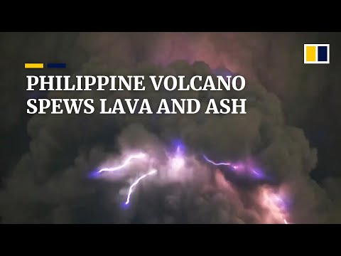 Mass evacuation as Philippines' Taal volcano spews lava and ash