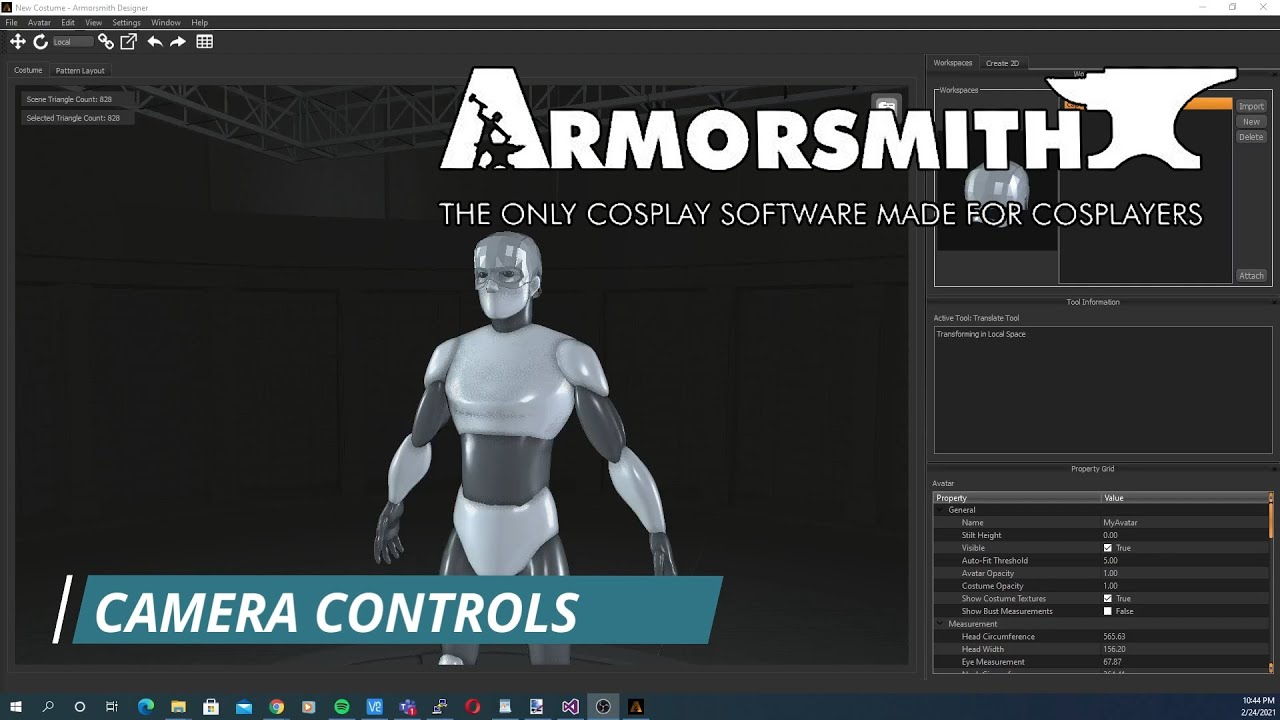Camera Controls in Armorsmith