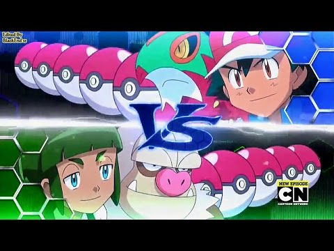 Pokemon XY&Z Ash vs Sawyer Fourth/League Battle English Dub