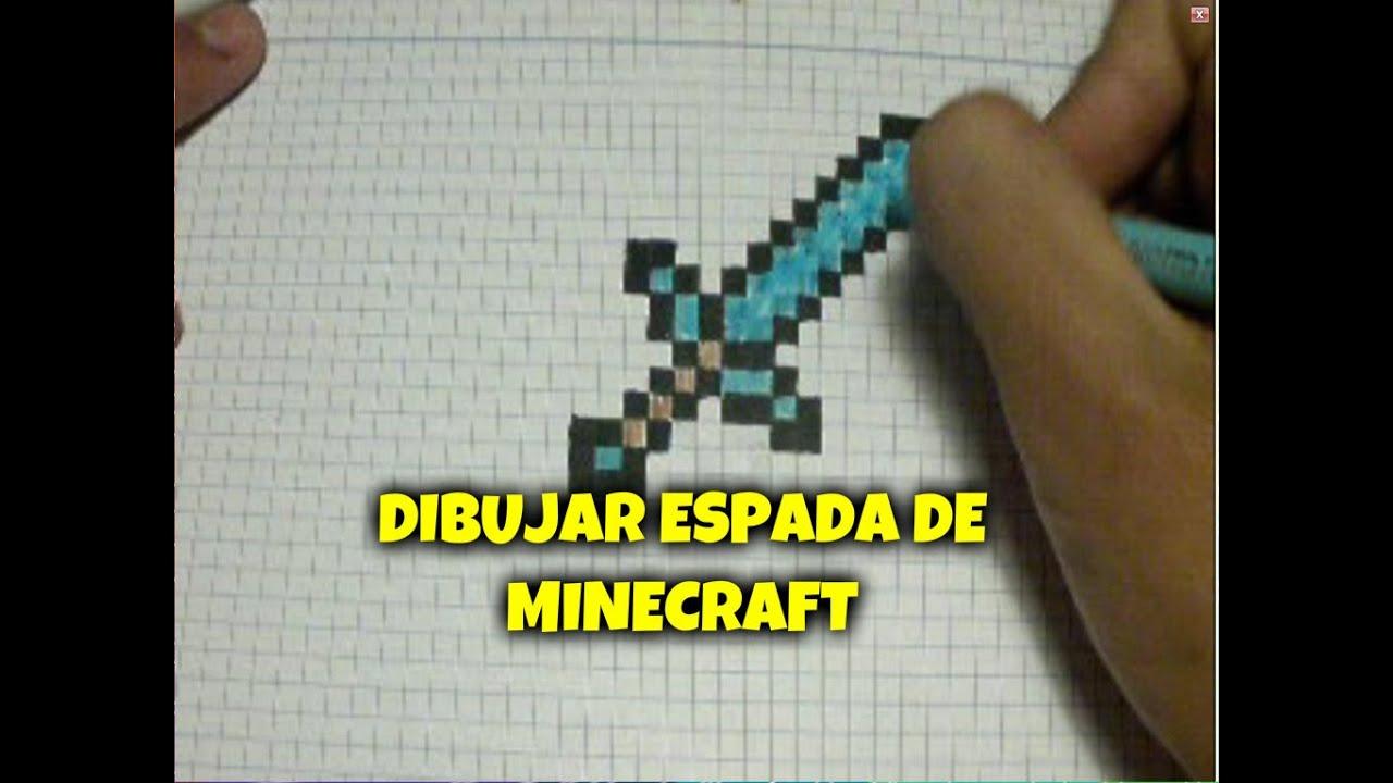 Como dibujar una espada de minecraft  YouTube