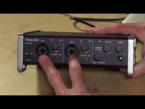 Tascam US-2x2 USB Audio Interface - Connect High Quality Microphones Via USB