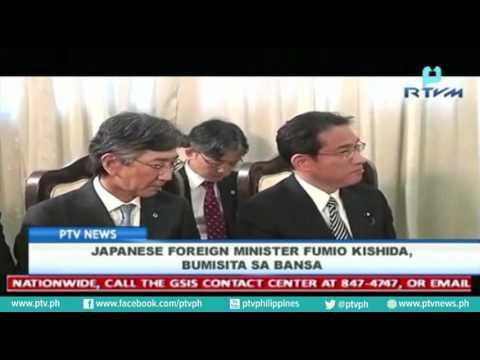 Japanese Foreign Minister Fumio Kishida, bumisita sa bansa