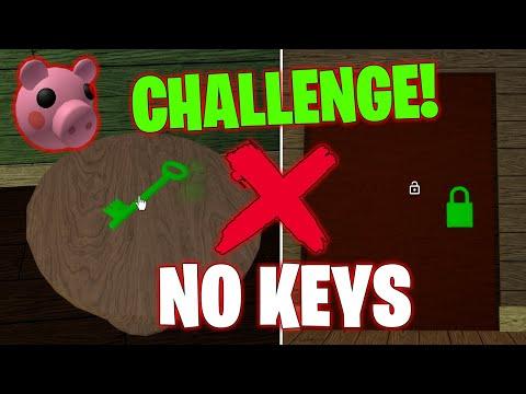CHALLENGE! RETO ESCAPAR SIN UTILIZAR LLAVES 🔑 EN PIGGY - ROBLOX