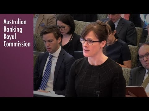 Closing address on the topic of Consumer Lending at the Banking Royal Commission