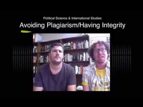 Plagiarism and Integrity - UQ School of Political Science and International Studies (POLSIS)
