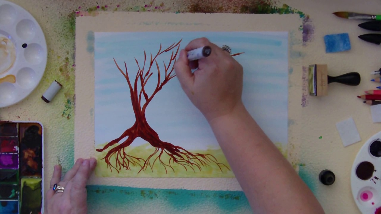 Alcohol ink tutorial easy tree youtube alcohol ink tutorial easy tree baditri Images