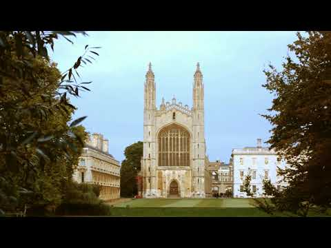 Cambridge, England: King's College Chapel on Sunny Autumn Day
