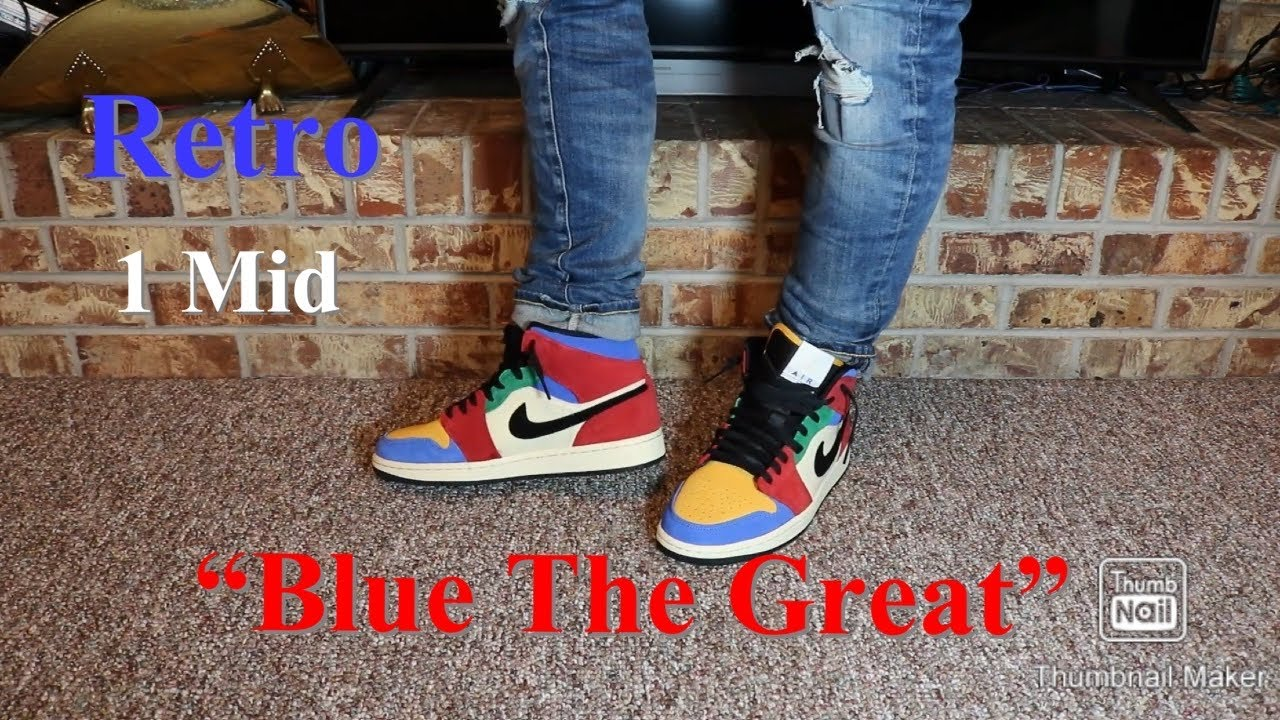 Retro 1 Mid Blue The Great Review On Feet Youtube