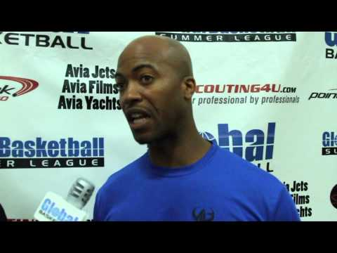 Chase Senior Interviews Rickey Cleveland-George At The Global Basketball Summer League