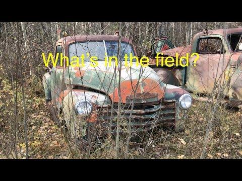 Fall Harvest! Farm Field Junkyard Tour, classic cars and trucks.