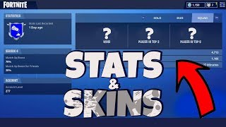 SHOWING MY SKINS ET WINNINGS EN FORTNITE
